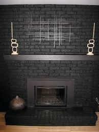 grey painted brick fireplace painting