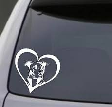 Car Truck Graphics Decals Pitbull Dad Vinyl Decal Sticker Car Window Bumper Wall I Love My Rescue Dog Auto Parts And Vehicles