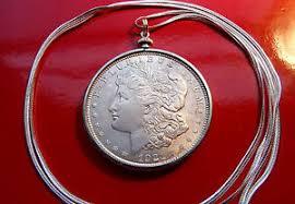 1878 1921 morgan silver dollar pendant