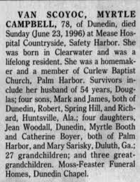 Obituary for MYRTLE SCOYOC CAMPBELL (Aged 78) - Newspapers.com