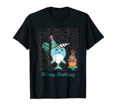 Es Mi Cumpleanos Narwhai Kawaii Camisetas Algodon Tamano M 3xl Us