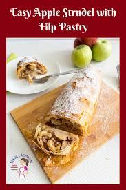 easy apple strudel recipe with filo