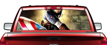 Product Captain America 2 Movies Rear Window Decal Sticker Pick Up Truck Suv Car