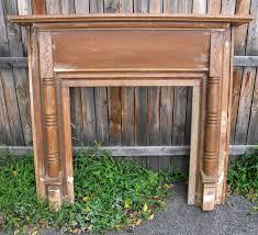 vintage wood fireplace mantels