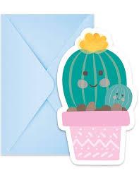 Invitaciones Cactus Para Fiestas Cumpleanos Y Decoraciones