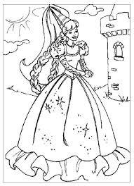 Kleurplaat Jonkvrouw Prinses Kleurplaatjes Kerstmis Kleurplaten