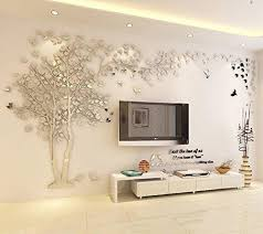 3d Huge Couple Tree Diy Wall Stickers Crystal Acrylic Wall Decal Wall Walldecals Com