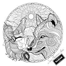 Native Wolf Coloring Mandala Kleurplaten Kleurplaten Dieren