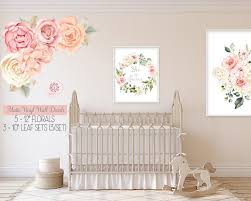 Peony Peonies Rose Floral Blush Ivory Pink Matte Vinyl Wall Decal Flow Pink Forest Cafe