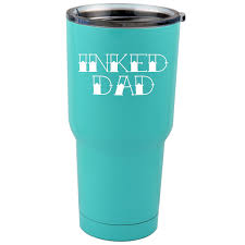 30 Oz Sic Cup With Decal Tattoo Inked Dad Daddy Thermos Mug Pint Glass Container