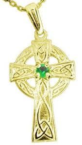 14k gold silver emerald irish celtic