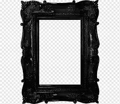 black wooden frame frame mirror