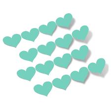 Mint Green Hearts Vinyl Wall Decals Shapes Patterns Decalvenue Com Decal Venue