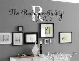 Wall Decal Quote Personalized Family Name Wall Decal Rodriguez Family Surface Inspired Home Decor Wall Decals Wall Art Wooden Letters