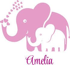 Personalized Name Vinyl Decal Sticker Custom Initial Wall Art Personalization Decor Childrens Girl Bedroom Baby Nursery Room Elephants Pink 16 Inches X 16 Inches Walmart Com Walmart Com