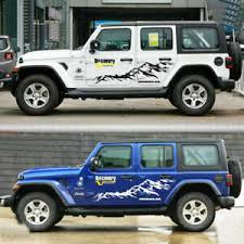 Graphics Vinyl Snow Mountain Sticker Fit Jeep Wrangler Side Doors Decal 2 Pcs Ebay