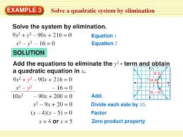 to solve an equation with x2 and y 2