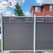 China Outdoor Garden Easy Installation Wood Plastic Composite Trellis Fence Panel China Fencing For Villa Garden Fence