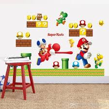 50 70cm New Super Mario Bros Kids Removable Wall Sticker Decals Nursery Home Decor Vinyl Kids Baby Rooms Wall Stickers Wall Decals Tree Wall Decals Uk From Qiansuning8 7 96 Dhgate Com