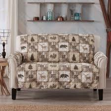 new loveseat cover lodge country style
