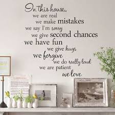 60x56cm In This House English Letter Proverbs Wall Stickers Home Decoration Wall Stickers Living Room Wall Stickers Home Decor Wall Stickers Bedroom