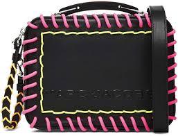 whipstitch leather handbag
