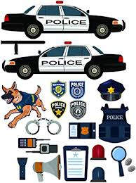 Amazon Com Epic Designs Police Car Equipment Stickers Removable And Repositionable Wall Decals Wall Art For Any Kids Room Automotive