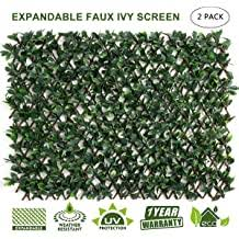 Doeworks Expandable Fence Privacy Screen For Balcony Patio Outdoor Faux Ivy Fencing Panel For Backdrop Garden Backyard Home Decorations 2pack Buy Products Online With Ubuy Philippines In Affordable Prices B07sb5slc5