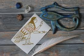 Harpy Ancient Egyptian Ba Soul Pagan Vinyl Decal Bumper Etsy Ancient Egyptian Vinyl Decals Large Decal