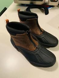 boot size 9 5 medium dark tan leather