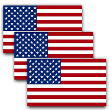 Anley 5 In X 3 In American Us Flag Decal Patriotic Stars Reflective Stripe Usa Flag Car Stickers 3 Pack A Flag Decal Us The Home Depot
