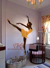 Ballerina Wall Decal Ballet Wall Decal Baby Room Vinyl Decal Etsy