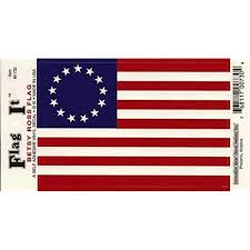 Amazon Com Betsy Ross Flag Decal For Auto Truck Or Boat Automotive