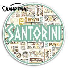 Jump Time For Santorini Greece Vinyl Stickers Greek Sticker Laptop Luggage Window Decal Waterproof Car Accessories Car Stickers Aliexpress