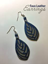 how to make faux leather earrings try
