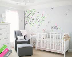 Wall Decal Corner Tree Wall Decal With Butterflies Birds Birdcage And Personalized Name Beautiful Nur Nursery Wall Murals Nursery Room Design Girl Nursery Wall