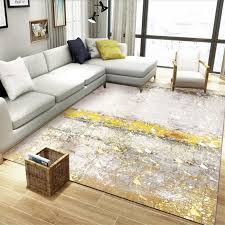living room abstract golden gray marble