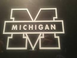 University Of Michigan 5 X 7 Car Decal Stickers Ebay