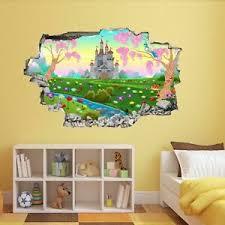Princess Castle Fairy Tale Wall Art Sticker Mural Decal Kids Bedroom Decor Bg12 Ebay