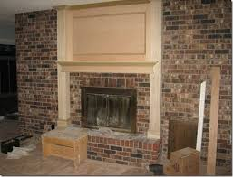 wood brick fireplace surrounded by