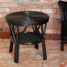 conservatory cane side table cane side