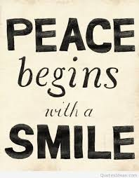 smile peace quote instagram