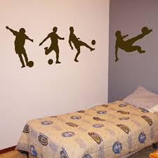 Soccer Players Series Of 4 Sports Wall Decals