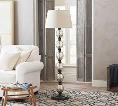 stacked mercury glass floor lamp base