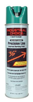 Rust Oleum 17 Oz Industrial Choice Safety Green Solvent Based Inverted Marking Paint White Cap