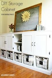 Diy Storage Console With Cabinets Shelves And Cubbies Living Room Storage Cabinet Diy Storage Cabinets Living Room Toy Storage