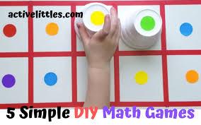 5 fun simple diy math games for kids at