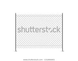 Realistic Metal Chain Link Fence Art Stock Vector Royalty Free 1332856403