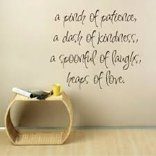 Kitchen Wall Sticker A Pinch Of Patience Love Inspiration Quote Home Vinyl Decor Ebay