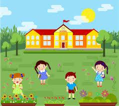عودة الاطفال للمدرسة تصميم ابداعي ملف مفتوح
